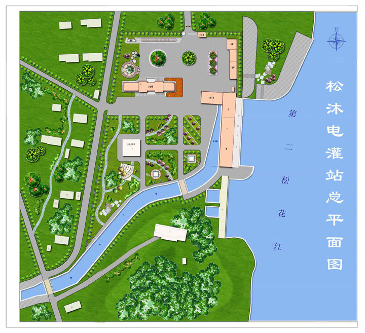 学生园林手绘平面图